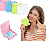 Portable Mask Storage, Mask Case, Reusable Mouth Cover Holder Organizer for Travelling/School/Work/Car, Waterp