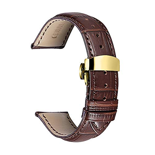 Watch Strap 16mm 18mm 19mm 20mm 21mm Genuine Calf Leather Band Replacement 22mm Watch Band Deployment Buckle Butterfly Clasp CHIMAERA