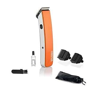 Nova NHT-1045 Rechargeable Cordless Beard Trimmer for Men (Orange)