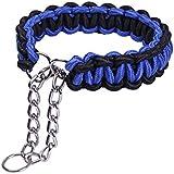[Gesponsert]Hundehalsband, CtopoGo Sicherheitsleine, Nylon Äußere und Baumwolle Core + Edelstahl Design, Leichtgewicht & Handgefertigte Haustier Training Halsbänder für Hunde, S-XL, 24cm - 70cm