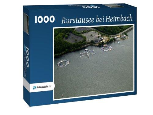 Rurstausee bei Heimbach - Puzzle 1000 Teile mit Bild von oben