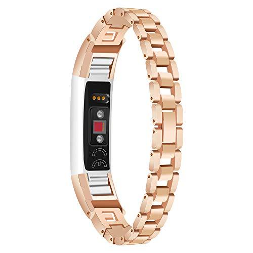 Hanomes Correas para Relojes Correa de la Correa de la Pulsera del Reloj del Acero Inoxidable de Flash Diamant para Fitbit Alta HR