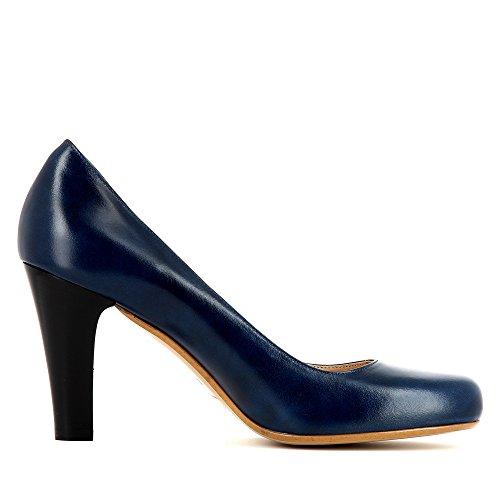 MARIA Damen Pumps Glattleder Blau