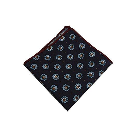 Sitong Hommes imprim¨¦ poche mouchoirs en coton carr¨¦ Serviette de poche 057