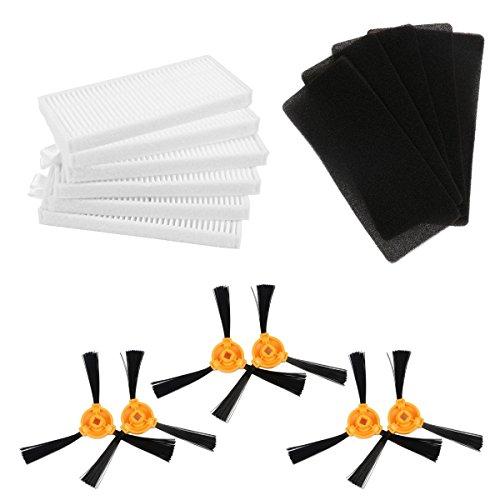 TeKeHom 3-Arm Seitenbesen HEPA & Schaumstoff Filter Kit Zubehör für Conga Excellence robovac eufy 11 (Conga-kit)