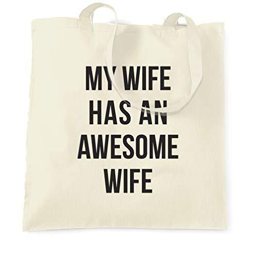 Tim And Ted Joke Paare Tragetasche Meine Frau hat eine wunderbare Ehefrau Natural One Size