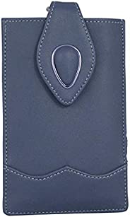 Tickles Fancy Artificial Leather Mobile Pouch with Case Holder Waist Clip for Women Girls Saree (Blue 5) (Suit