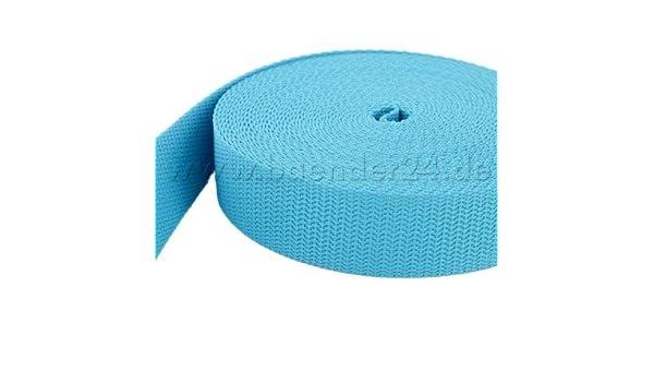 UV 25mm breit dunkelblau 10m PP Gurtband 1,8mm stark