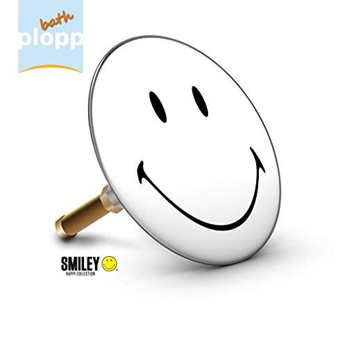 Bath Plopp Smiley black&white Badewannenstöpsel, Stöpsel für Badewanne Abfluss, Stopfen, 4468