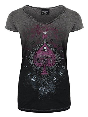 Alchemy T-Shirt England L'Amort da donna in grigio
