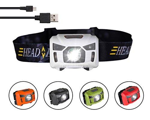 Trois arbres USB Rechargeable Lampe Frontale LED