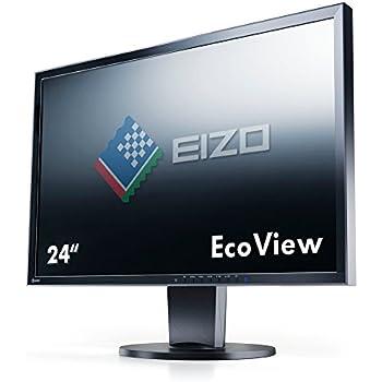 Eizo EV2416WFS3-BK 60,9 cm (24 Zoll) Monitor (DVI, D-Sub, DisplayPort, 5ms Reaktionszeit) schwarz