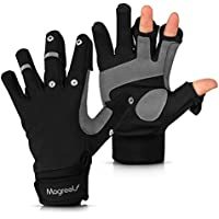 Magreel Winter Windproof Outdoor Gloves Water Repellent 3 Cut Fingers Photography Gloves Great for Fishing Motorcycling Running Shooting Cycling Hiking Skiing for Men and Women
