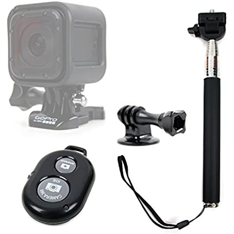 DURAGADGET Selfie Stick Para GoPro Hero4 Session / Session Surf / Hero HD 4 / 3+ / 3 / 2 + Mando A Distancia -