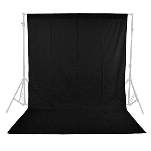 phot-r 1.6mx2.1m foto studio sfondo in tessuto non tessuto per studio fotografico lavabile in lavatrice nero per fotografia video