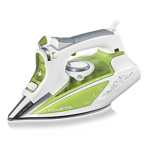 Rowenta DW9210 - Plancha (Plancha a vapor, Suela de acero inoxidable, 2 m, 200 g/min, Verde, Blanco, 45 g/min)