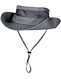Vbiger Safari Sombrero Hombres Aventura Sombrero Caza Viaje Gorro Pescador  Boina Sombrero Al aire libre 4f0e60ba713