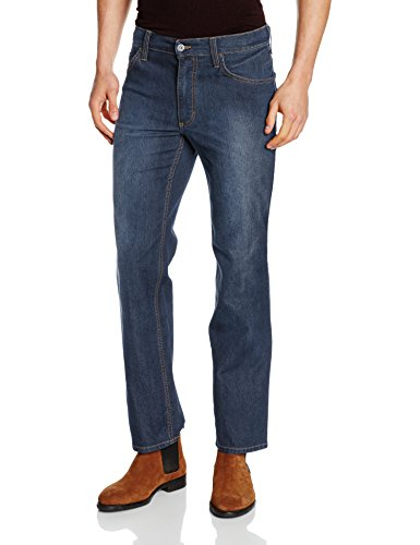 Mustang Oklahoma, Straight (Coupe Droite, Jambe Droite) Homme Blau (Rinse 083)