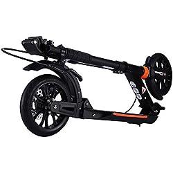 Patinetes de tres ruedas Scooters Negros con Doble Freno, Bicicleta Eléctrica No Eléctrica De Ciudad, Recreación Al Aire Libre Stunt Scooters