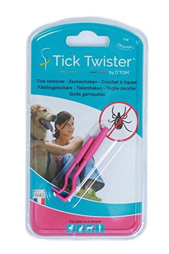 O-Tom® - Tick Twister Zeckenhaken Zeckenzange Hundezeckenzange Zeckenzieher Hundezeckenzieher (pink)