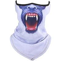Katze Hund Golf Print Hals Half Face Maske Winter Balaclava Schal Bandana