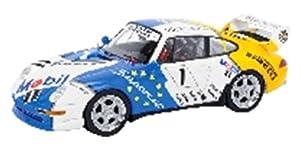 Schuco Dickie 450888200-Porsche 911Cup, Start Número 1, Tipo 993, VIP 1996Porsche Super Cup, Resin, Escala 1: 43, Color Blanco/Azul/Amarillo