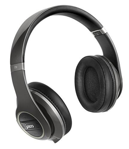Jam HX-HP150GY-EU TRANSIT CITY Bluetooth Over-Ear Kopfhörer mit Geräuschunterdrückung grau/silber
