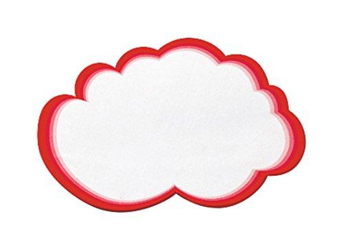 Legamaster 7–250100–Tarjetas de moderación Mini de Wolke 23x 14,5cm, 20unidades), color blanco con borde Rojo