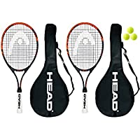 Head Ti.Radical 27 - 2 racchette da tennis da + 3 palline Head
