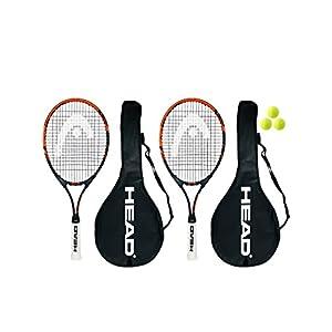 HEAD Extreme Junior 2 x Tennisschläger + 3 Balls and Protective Covers (Größe 19″-26″