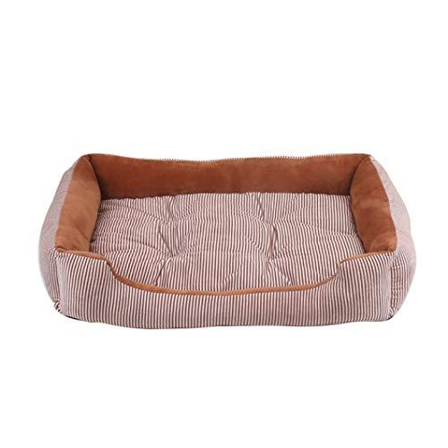 Donad Hundebett Mat Streifen Winter warm weichem Plüsch gemütliches Nest Heimtierbedarf für kleine mittlere große Hundewelpen Mat Zwinger -