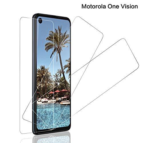 SNUNGPHIR® Protecteur d'écran pour Motorola One Vision Film Verre Trempé pour Motorola One Vision [9H Dureté] [Anti-Empreintes] [Anti Rayures] [Pas de Bulles] [Haute Transparence] [3pcs]