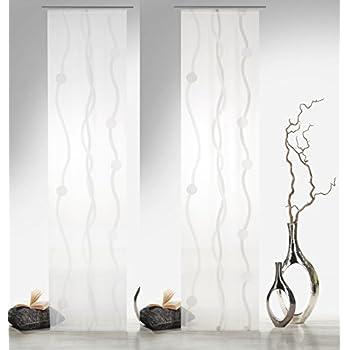 Home Fashion 86241-810 Rideau Coulissant Blanc Cass/é 245 x 60 cm