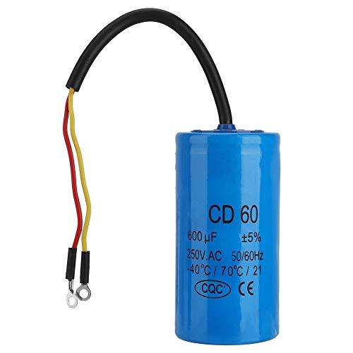 Motorstartkondensator - CD60-Kondensator, 250 V AC 600 UF Gerät Motorstartkondensator Mit Kabel Für Motorluftkompressor (Kondensator Ac)