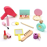 Symiu Wooden Toys Kids Make up Sets for Girls Pretend Make up Princess Makeup Birthday Gift for Children 3 4 5 6 Year Old