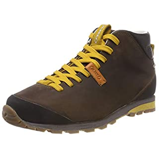AKU Unisex Adults' Bellamont FG MID GTX High Rise Hiking Boots, (Dark Brown/Yellow 305), 9 UK