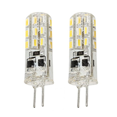 2 x Ampoules Lampe G4 24 SMD 3014 LED-Lumiere Blanc chaud 1.5W 12V DC