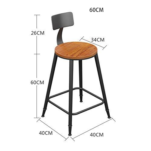 MEIDUO Durable Selles Tabouret de bar chaise de cuisine chaise de salle à manger chaise de petit déjeuner naturel pinède hauteur industrielle pour intérieur extérieur
