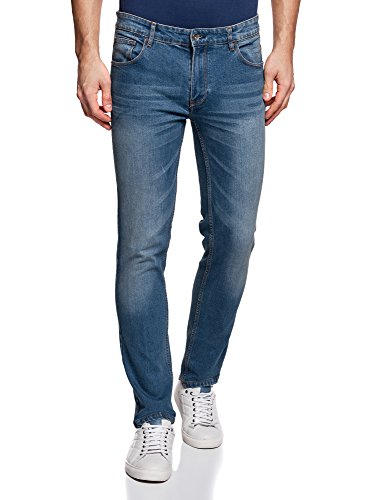oodji Ultra Herren Jeans Slim Fit Basic