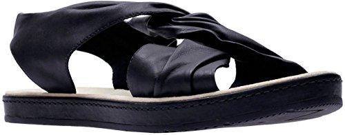 Clarks , Damen Sandalen Black Leather
