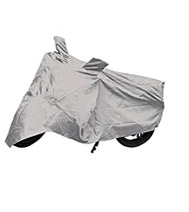 Capeshoppers Bike Body Cover Silver For Suzuki Swish 125 Scooty