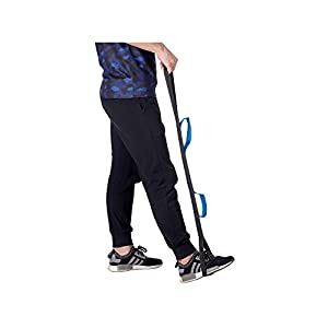 """Leg Lifter Strap, 35""""Rigid Foot Loop Lift & Hand Grip - Adult, Senior, Elderly, Handicap, Disability & Pediatrics Mobility Aid Lifting Tool for Wheelchair, Hip & Knee Replacement, Bed or Car"""