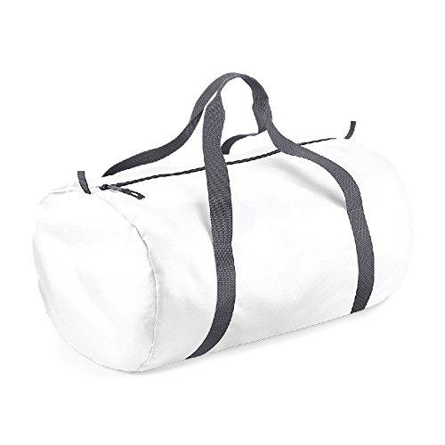 Packway Barrel Bag- Borsone tubolare campeggio/mare Bianco