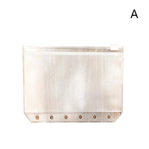 Everley Hutt Document Files Bag 5 Stück A5 6 Löcher Bill Visitenkartenhalter Datei Ordner Tasche (Datei-ordner Receipts)