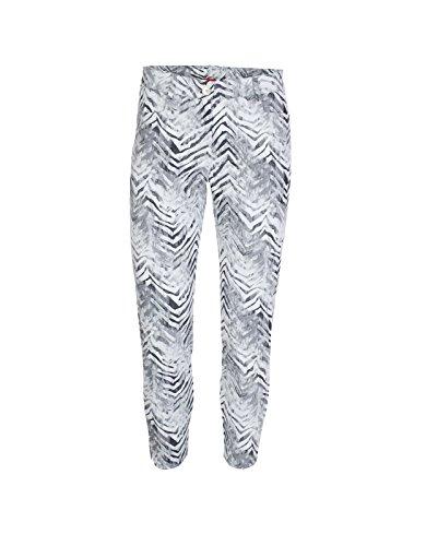 Xfore Damen Golf Stretch Hose Wakefield, Animal-Jacquard, Zebra Muster, Gr L - Bi-stretch-gerades Bein Hose