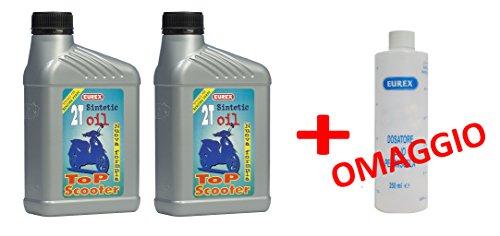 n-2-confezioni-olio-moto-2-tempi-eurex-2t-sintetic-lt-1-lubrificante-semisintetico-misurino-dosatore