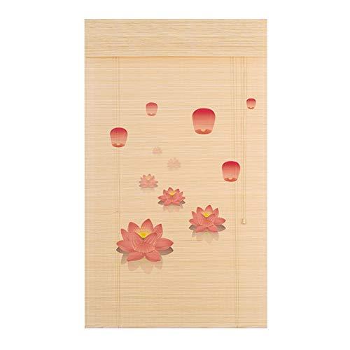 Persiana de bambú Persiana Enrollable Tipo Cortina De Bambú De Estilo Japonés - Tratamiento De Barniz Antimoldes A Prueba De Agua, 70cm / 85cm / 100cm / 125cm / 150cm Ancho (Tamaño : W 85×H 90cm)