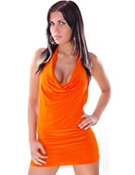 "Waooh - Mode - Mini robe clubwear ""Valentina"" dos nu - Orange"