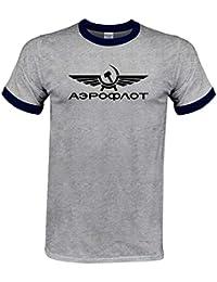 2a2f72304 INCLUDS Cool Boutique T Shirt Aeroflot Tshirt CCCP Civil Aviation Print T  Shirt USSR Russia Airforce Russian Men…