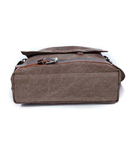Männer Diagonale Paket Segeltuch Freizeit Freizeit Reise Freizeit Paket Brown